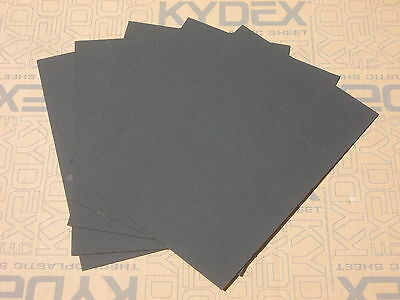 """7 Pack 1.5 mm (0.59"""") KYDEX T Sheet 297 X 210 P-1 Haircell Black 52000"""