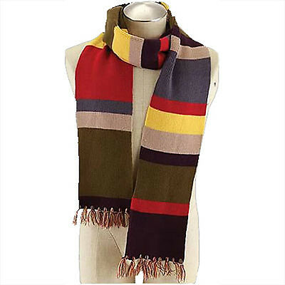 NEW Dr Who 4th Doctor Tom Baker 6' 6 foot Striped Scarf - Official BBC Licensed