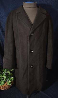 Rare Vintage 60s-70s Charcoal Gray Wool NOR-WIND Over or Top Coat  L?