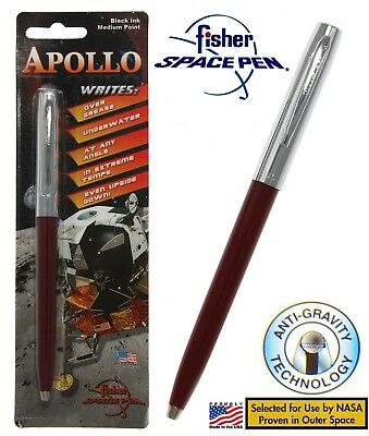 Fisher Space Pen #S251-BURGUNDY Apollo Series Pen In Burgundy & Chrome