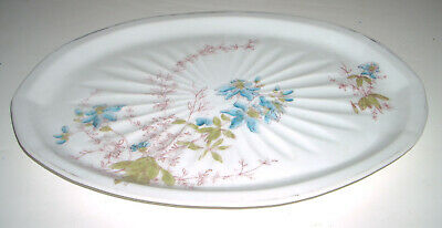 "Antique / Vintage 11"" GD&C Limoges Porcelain Floral Dresser / Vanity Tray France"