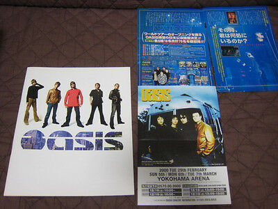 Oasis 2000 World Tour Book w Japanese Flyer Concert Program Beady Eye Gallagher