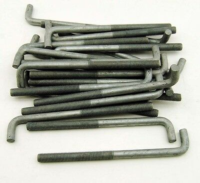"(20) Concrete Bent Anchor Bolts 1/2-13 x 8"" Hot Galvanized"