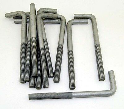 "(10) Concrete Bent Anchor Bolts 5/8-11 x 8"" Hot Galvanized"