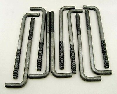 "(10) Concrete Bent Anchor Bolts 5/8-11 x 10"" Hot Galvanized"