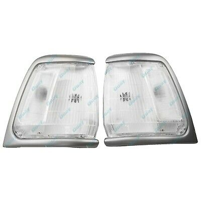 for Toyota Hilux 2WD 91-97 GREY/SILVER Corner Indicator Lights LEFT+RIGHT LH+RH