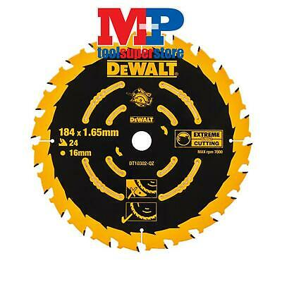 Dewalt Dt10302 Corded Extreme Circular Saw Blade 184Mm X 16Mm 24 Tooth
