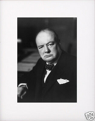 Winston Churchill Matted Photo Picture #b1