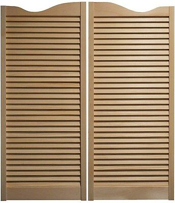 "PINE CAFE DOORS Louvered Western Swinging Saloon 30"" 32"" & 36"" W x 42""T w/Hinges"