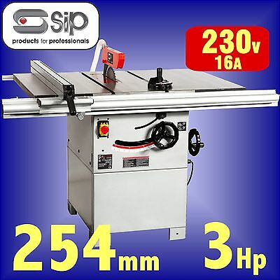 SIP 01332 Pro 254mm 10 Cast Iron Table Saw 240v 3hp bench circular rip sawbench
