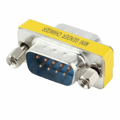 9 Pin RS-232 DB9 Male to Male M/M Serial Cable Gender Changer Coupler Adapter