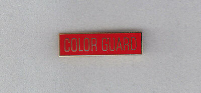 COLOR GUARD police/fire/EMS Uniform Commendation/Award Bar Gold on Red