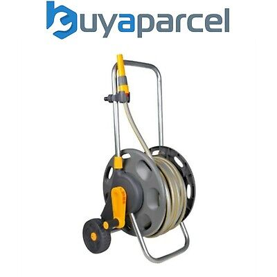 Hozelock 2434 Wheeled Floor Standing Hose Reel 30m Hose Includes Fittings