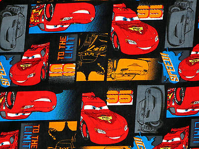 Disney Pixar Cars Licensed Cotton Fabric  Lightning Mcqueen Speed   By The Yard