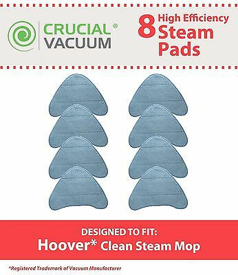 8 Replacements Washable Hoover WH20200 Steam Mop Pads Part # WH01000