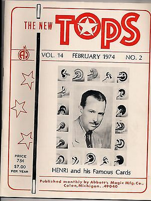 The New Tops Magic Magazine,February 1974 Issue