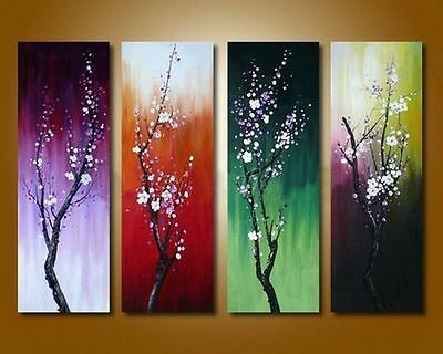4 pieces Large canvas NO frame. Modern Abstract Art Oil Painting Wall Art Decor