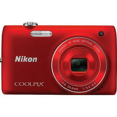 Nikon Coolpix S4100 Digital Camera (Red)  *Refurbished*