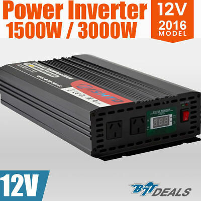 New 1500W(3000W) 12V-240V Power INVERTER Modified Sine WaveCamping Caravan Boat