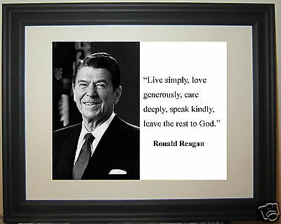 PRESIDENT RONALD REAGAN Live Simply Quote Framed Photo Picture Unique Ronald Reagan Love Quotes