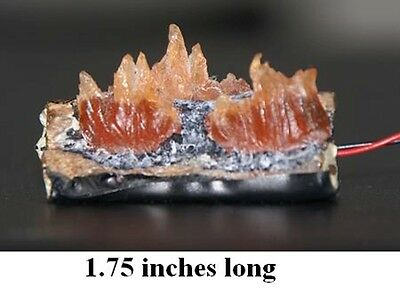 Flickering Fireplace Logs Dollhouse Miniatures 1:12 Scale