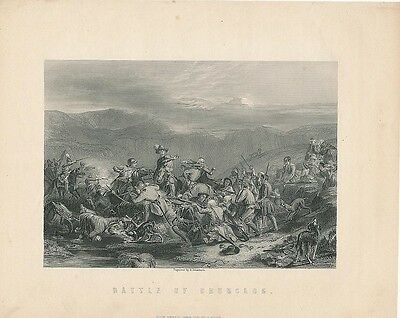 Battle of Drumclog c.1860 fine antique engraved historical view print