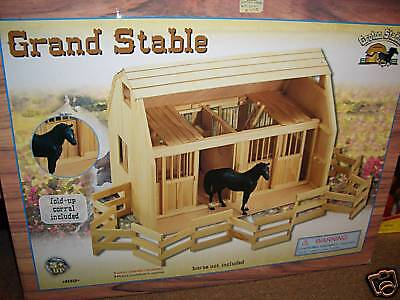 Large Wooden Grand Horse Stables & Corral *new* In Shipper