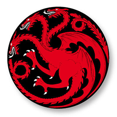 "Pin Button Badge Ø25mm 1"" Game of Thrones Trône de fer House Targaryen"