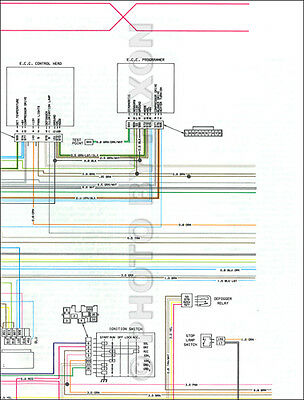 cadillac fleetwood brougham diesel foldout wiring diagram 1979 cadillac seville foldout color wiring diagram original electrical schematic