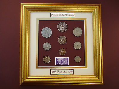 PERSONALISED FRAMED 1948 COIN SET 68th  BIRTHDAY / ANNIVERSARY GIFT IN 2016