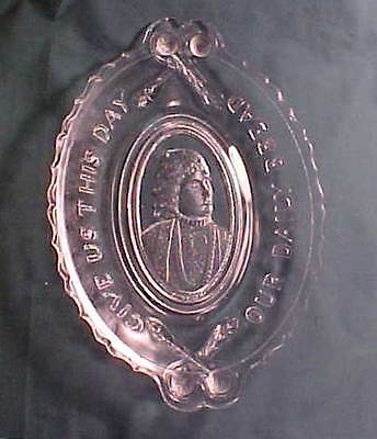 Actress Miss Neilson Early American Pattern Glass Bread Tray