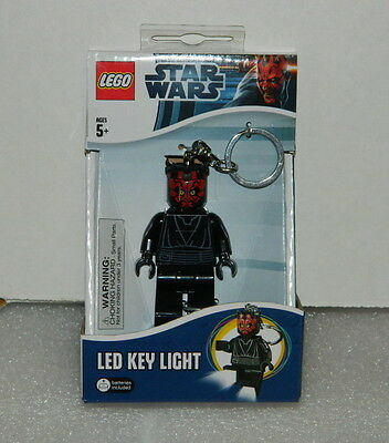 Star Wars Darth Maul Figure LED Lite Key Light Keychain 2013 LEGO NEW UNUSED