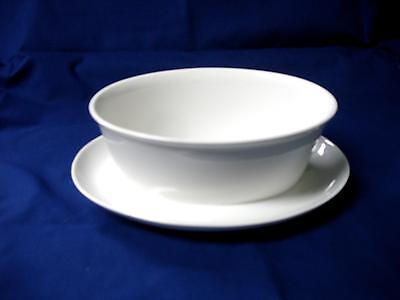 1960s Franciscan Cloud Nine- Gravy Boat w/Attached Plate- White
