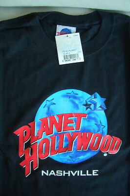 Planet Hollywood Nashville Black Tee Size L XL-Fotos NWT Neu