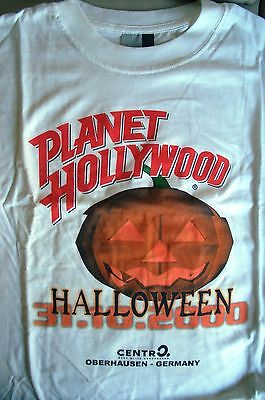 Planet Hollywood Oberhausen Halloween 2000 White Tee Size L XL-Fotos Neu