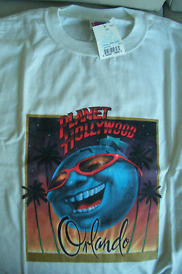Planet Hollywood Orlando White Tee Size L XL-Fotos Neu NWT