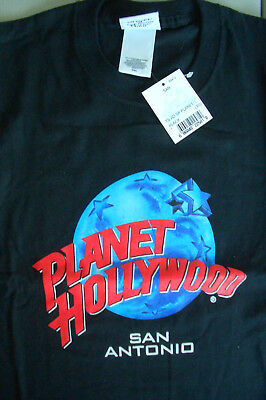 Planet Hollywood San Antonio Black Tee Size L XL-Fotos NWT Neu