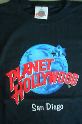Planet Hollywood San Diego Black Tee Size L XL-Fotos Neu