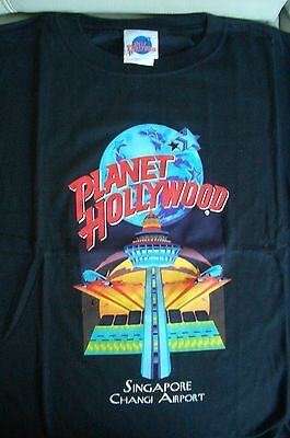 Planet Hollywood Singapore Changi Airport Black Tee Size L XL-Fotos Neu