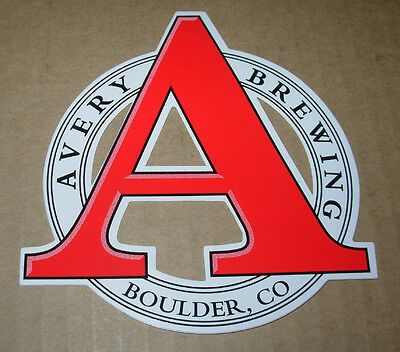 AVERY BREWING brewery SALUD AND PROST skull STICKER decal craft beer BOULDER