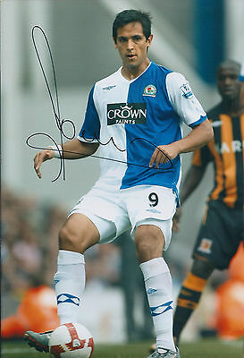 Roque SANTA CRUZ Signed 12x8 Photo AFTAL COA Autograph Blackburn Rovers