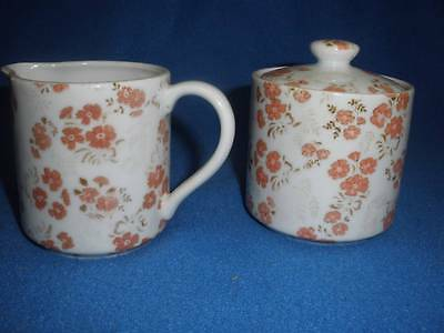 RETRO PORCELAIN CREAMER AND SUGAR DISH WITH LID