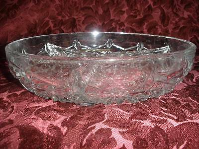 Retro Partitioned  Patterned Glass Savoury Dish
