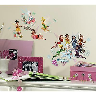 DISNEY FAIRIES Secret of the Wings wall stickers 54 decals scrapbook Tinkerbell