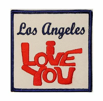 I Love You Los Angeles Travel Iron On Applique Badge Patch FD