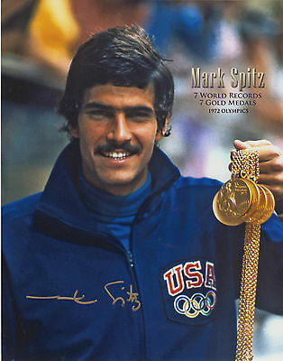 MARK SPITZ, 7 x GOLD MEDALIST the MUNICH OLYMPICS  - signed 10x8