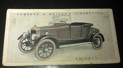 1922 CALCOTT  Lambert & Butler UK Cigarette Card