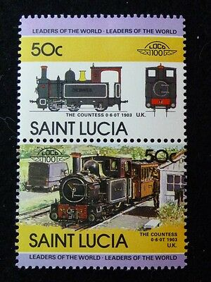 St Lucia 1984 Locomotive Stamps S674-79 Mnh
