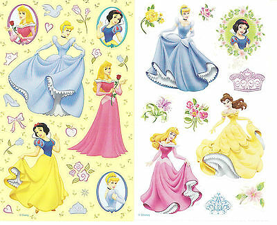 Sandylion Disney Princess Scrapbooking Stickers 2 Assorted Maxi Sheets RETIRED