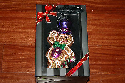 New 2013 Celebration Christopher Radko Hand Crafted Glass Gingerbread Cookie Man